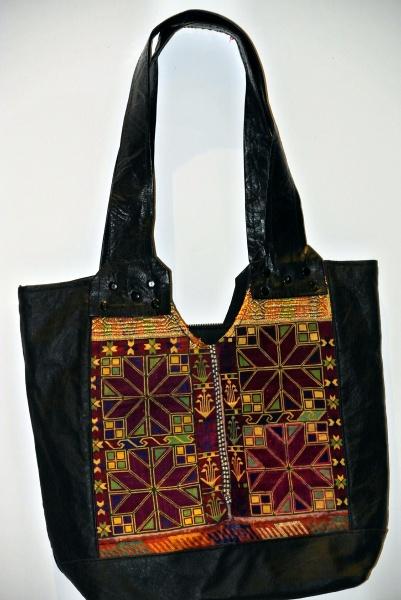 Afghani Ghazani Kilim Hand Embroidered Vintage Leather Purse