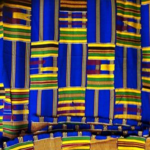 African Kente Cloth Blue