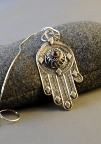 Yemenite Silver Khamsa