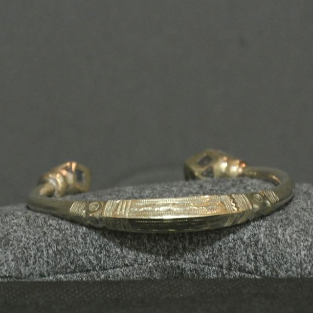 Nigerian Touareg Heavy Silver Engraved Cuff Bracelet
