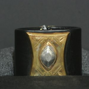 Nigerian Touareg Wide Leather Cuff Bracelet